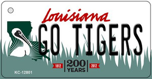 Go Tigers Wholesale Novelty Metal Key Chain KC-12801