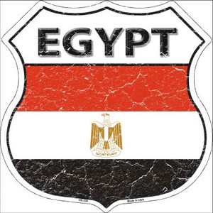 Egypt Country Flag Highway Shield Wholesale Metal Sign