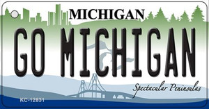 Go Michigan Wholesale Novelty Metal Key Chain KC-12831