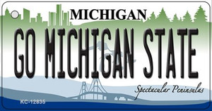 Go Michigan State Wholesale Novelty Metal Key Chain KC-12835