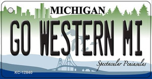 Go Western Michigan Wholesale Novelty Metal Key Chain KC-12840