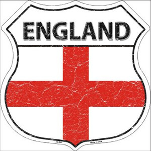 England Country Flag Highway Shield Wholesale Metal Sign