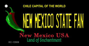 New Mexico State Fan Wholesale Novelty Metal Key Chain KC-12908