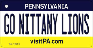 Go Nittany Lions Wholesale Novelty Metal Key Chain KC-12991