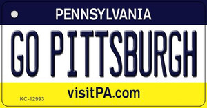 Go Pittsburgh Wholesale Novelty Metal Key Chain KC-12993