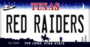 Red Raiders Wholesale Novelty Metal Key Chain KC-13058