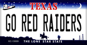 Go Red Raiders Wholesale Novelty Metal Key Chain KC-13059