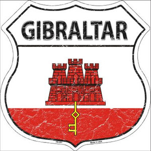 Gibraltar Country Flag Highway Shield Wholesale Metal Sign