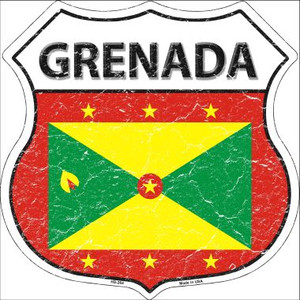 Grenada Country Flag Highway Shield Wholesale Metal Sign