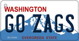 Go Zags Wholesale Novelty Metal Key Chain KC-13103