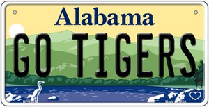 Go Tigers Wholesale Novelty Metal Bicycle Plate BP-12619
