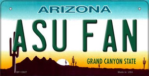 Arizona State Fan Wholesale Novelty Metal Bicycle Plate BP-12627