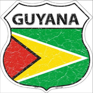 Guyana Country Flag Highway Shield Wholesale Metal Sign