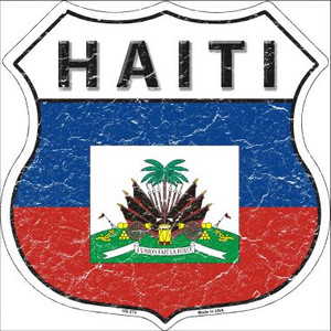 Haiti Country Flag Highway Shield Wholesale Metal Sign