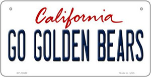 Go Golden Bears Wholesale Novelty Metal Bicycle Plate BP-12650