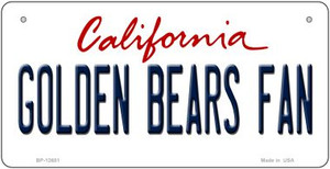 Golden Bears Fan Wholesale Novelty Metal Bicycle Plate BP-12651
