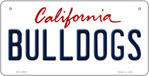 Bulldogs Wholesale Novelty Metal Bicycle Plate BP-12661