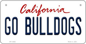 Go Bulldogs Wholesale Novelty Metal Bicycle Plate BP-12662