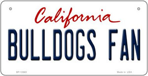 Bulldogs Fan Wholesale Novelty Metal Bicycle Plate BP-12663