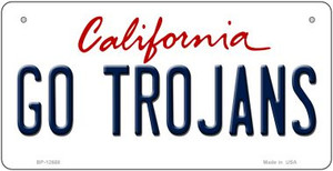 Go Trojans Wholesale Novelty Metal Bicycle Plate BP-12668