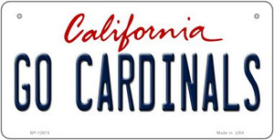 Go Cardinals Wholesale Novelty Metal Bicycle Plate BP-12674
