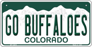 Go Buffaloes Wholesale Novelty Metal Bicycle Plate BP-12679