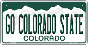 Go Colorado State Wholesale Novelty Metal Bicycle Plate BP-12682