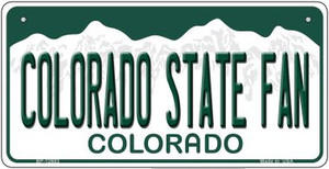 Colorado State Fan Wholesale Novelty Metal Bicycle Plate BP-12683