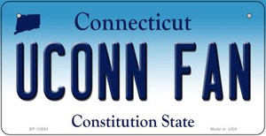 UConn Fan Wholesale Novelty Metal Bicycle Plate BP-12694