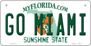 Go Miami Wholesale Novelty Metal Bicycle Plate BP-12714