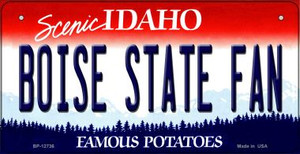 Boise State Fan Wholesale Novelty Metal Bicycle Plate BP-12736