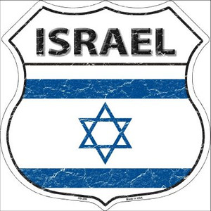 Israel Country Flag Highway Shield Wholesale Metal Sign