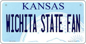 Wichita State Fan Wholesale Novelty Metal Bicycle Plate BP-12785