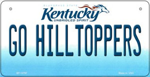 Go Hilltoppers Wholesale Novelty Metal Bicycle Plate BP-12797