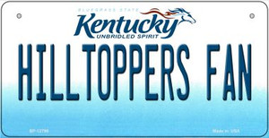 Hilltoppers Fan Wholesale Novelty Metal Bicycle Plate BP-12798