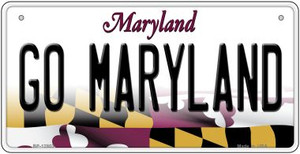 Go Maryland Wholesale Novelty Metal Bicycle Plate BP-12803