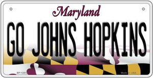Go Johns Hopkins Wholesale Novelty Metal Bicycle Plate