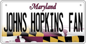 Johns Hopkins Fan Wholesale Novelty Metal Bicycle Plate BP-12816