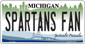 Spartans Fan Wholesale Novelty Metal Bicycle Plate BP-12838