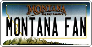 Montana Fan Wholesale Novelty Metal Bicycle Plate BP-12860