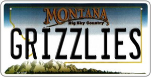 Grizzlies Wholesale Novelty Metal Bicycle Plate BP-12861