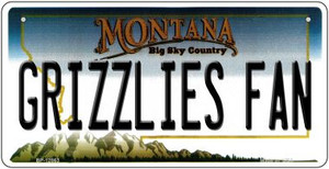 Grizzlies Fan Wholesale Novelty Metal Bicycle Plate BP-12863