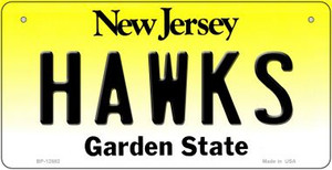 Hawks Wholesale Novelty Metal Bicycle Plate BP-12882