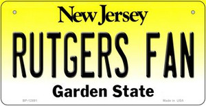 Rutgers Fan Wholesale Novelty Metal Bicycle Plate BP-12891