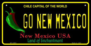 Go New Mexico Wholesale Novelty Metal Bicycle Plate BP-12901