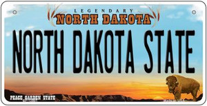 North Dakota State Wholesale Novelty Metal Bicycle Plate BP-12951