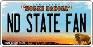 North Dakota State Fan Wholesale Novelty Metal Bicycle Plate BP-12953