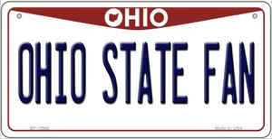 Ohio State Fan Wholesale Novelty Metal Bicycle Plate BP-12965