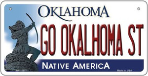 Go Oklahoma State Wholesale Novelty Metal Bicycle Plate BP-12977