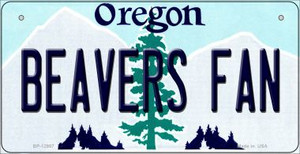 Beavers Fan Wholesale Novelty Metal Bicycle Plate BP-12987